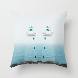 Lighthouse Twins Throw Pillow