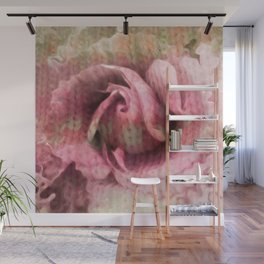 Knitted Rose Melting Ice Wall Mural