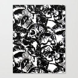 Skull Repeat Canvas Print