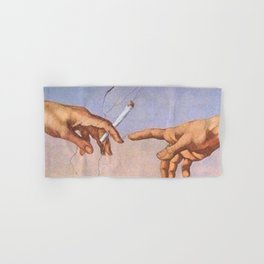 The Creation of Cigarettes Hand & Bath Towel