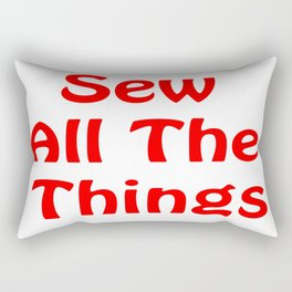 Sew All the Things in Red Rectangular Pillow