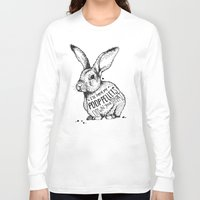 poop Long Sleeve T-shirts featuring Poop Rabbit by Nat Osorio
