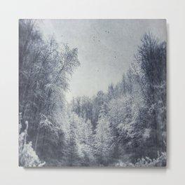 Frozen Forest Metal Print