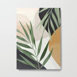 Abstract Art Tropical Leaves 72 Metal Print