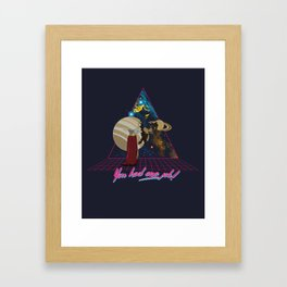 You had one job! Bubbles the Space Dolphin Framed Art Print