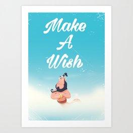 make a wish magical genie. Art Print