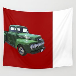 Green 1951 Ford F-1 Pickup Truck  Wall Tapestry