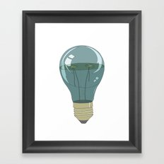 Life in a lightbulb. Night Framed Art Print
