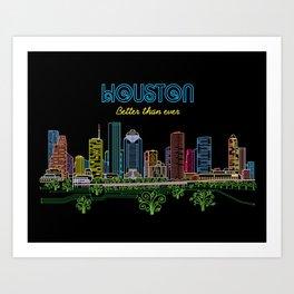 Houston Better Than Ever Circuit Art Print