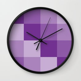 Four Shades of Purple Square Wall Clock