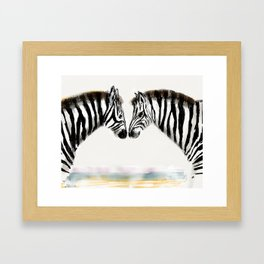 Zoe and Zack the Zebras Framed Art Print