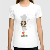 baking T-shirts featuring Baking MaMa by inkdesigner