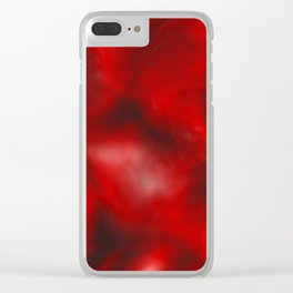 Red depths Clear iPhone Case