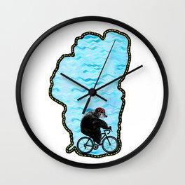 Tahoe Bicycle Bear - Ride Around the Lake Wall Clock