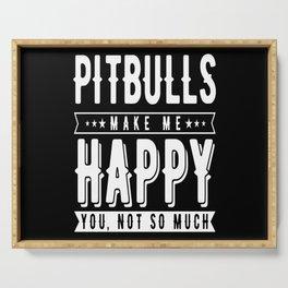 Pitbulls Dog Owner Pitbull Dog Pitbull Gym Serving Tray