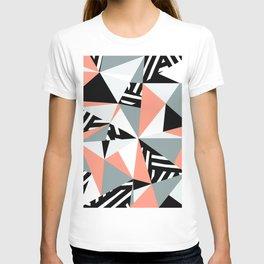 Modern Geometric 45 Pink T-shirt