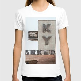 Vintage Neon Sign - KY Market - Tucson Arizona T-shirt