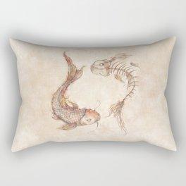 Yin Yang Fish Rectangular Pillow