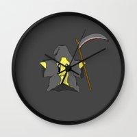 death star Wall Clocks featuring Death star by Nicolasfl