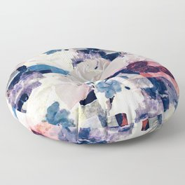 patchy collage Floor Pillow