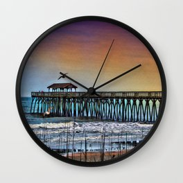 Myrtle Beach State Park Pier - Photo as Digital Paint Wall Clock