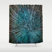 games Shower Curtains featuring Water games by  Agostino Lo Coco