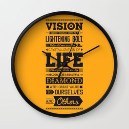 Lab No. 4 Vision Does Usually Dr. Michael Norwood Life Motivational Quotes Wall Clock