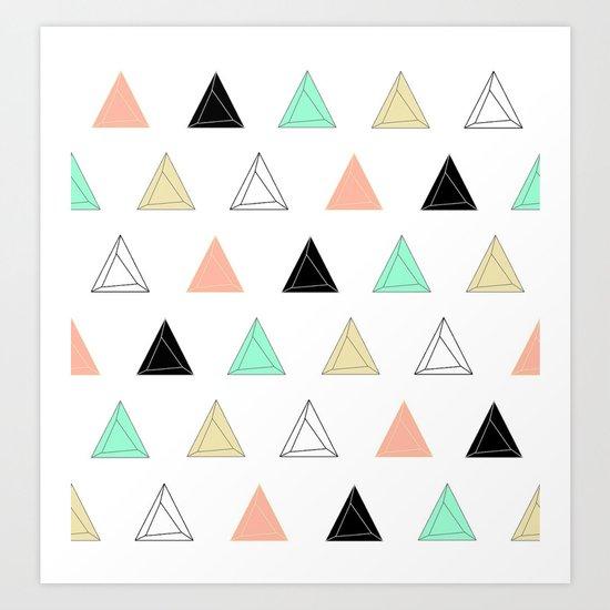 Prism Triangles Art Print