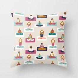 Morning yoga Throw Pillow