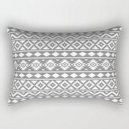 Aztec Essence Ptn III White on Grey Rectangular Pillow