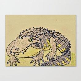 Grumpy Gator Canvas Print