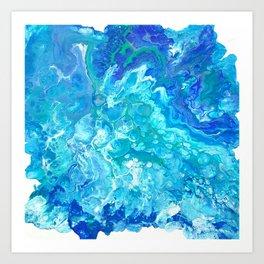 Aqua Ocean Blue Art Print