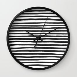 Ink Stripes Pattern Wall Clock
