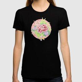 Pink Paisley Kimono Bouquet T-shirt