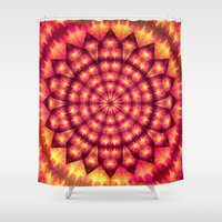 hippie Shower Curtains featuring Hippie Star by NatalieCatLee