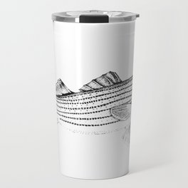 Striped Bass - Pen and Ink Illustration Travel Mug