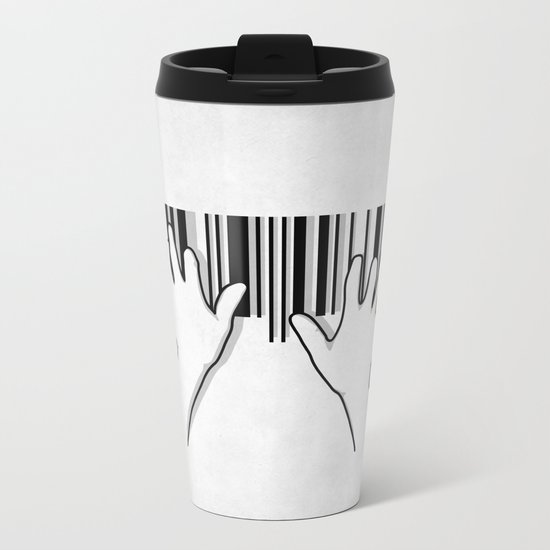 Barcode pianist Metal Travel Mug