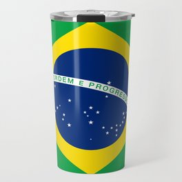 Flag of Brazil - Hi Quality Authentic version Travel Mug
