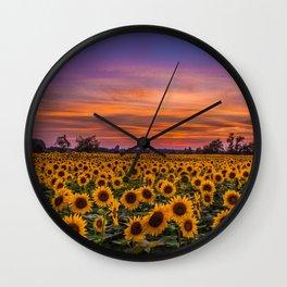 Sunflower Sunsest Wall Clock