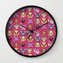 Eeveelution Maroon Wall Clock