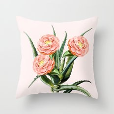 Blush Cactus || #society6 #decor #buyart Throw Pillow