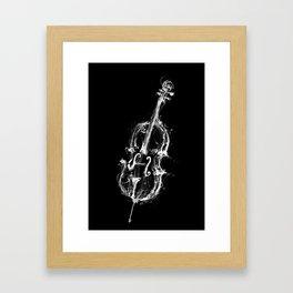 Black Cello Framed Art Print