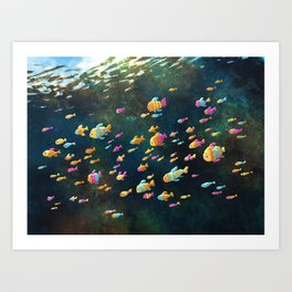 Many Many Fish Art Print