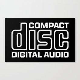 Compact Disk Digital Audio Logo - White Canvas Print