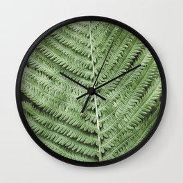 Fern Photography | Tropical Leaf | Light Green Wall Clock