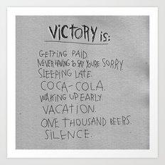 V FOR VICTORY Art Print