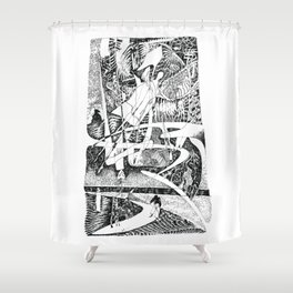Abstract Angel Of A Dreams Shower Curtain
