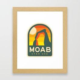 Moab Utah Patch Framed Art Print