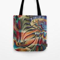 waterfall Tote Bags featuring Waterfall by Klara Acel