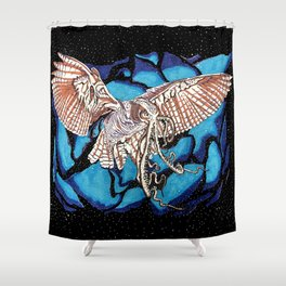 Squid Owl Shower Curtain
